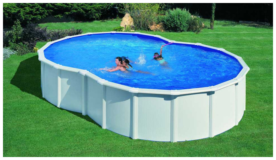 Piscine bois hors sol enterrable 4 34 x 1 18 m trigano of for Piscine bois enterrable rectangulaire