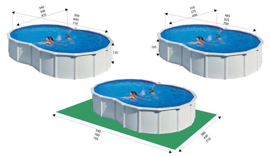 piscine en kit gr acier montage rapide forme en huit piscine center net. Black Bedroom Furniture Sets. Home Design Ideas