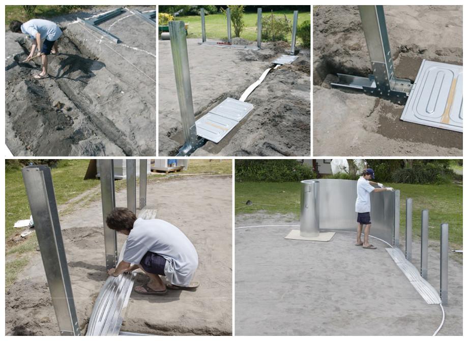 Piscine hors-sol en acier forme en huit Varadero - installation