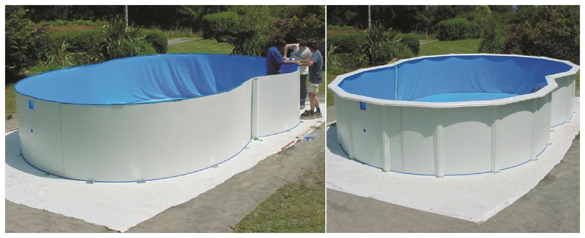 liner de la piscine hors sol varadero par gre en situation