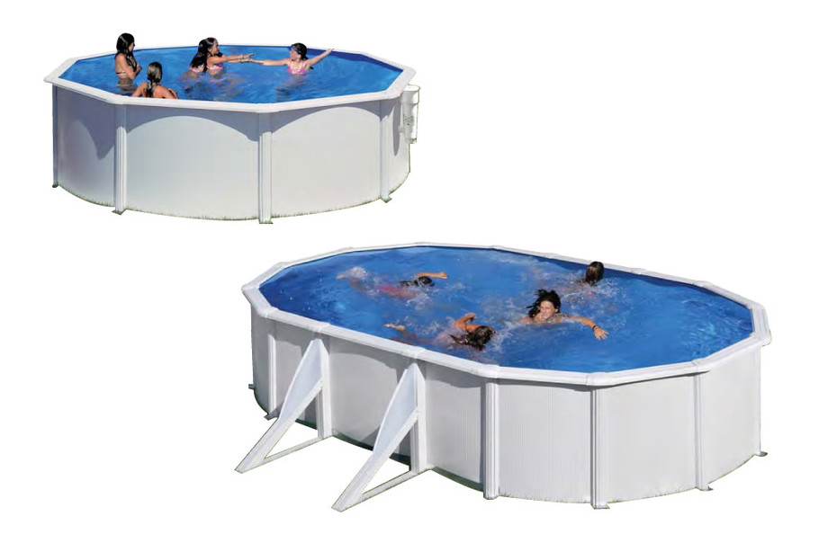Piscine gr pas cher kit hors sol acier blanc piscine for Piscine center