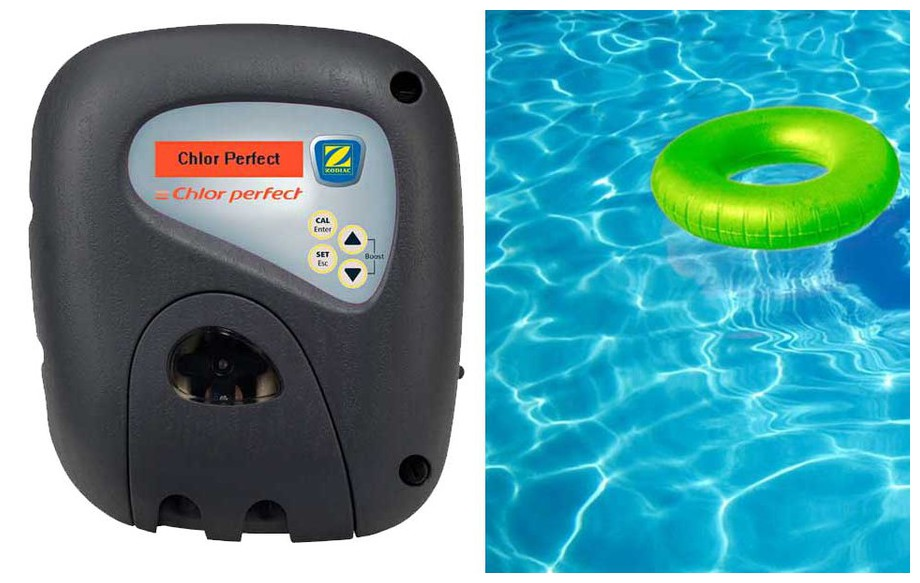 régulateur de chlore de piscine Chlor Perfect Zodiac en situation