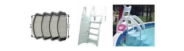 Escalier Festiva pour piscines - details et dimensions