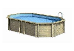 piscine bois octogonale allongée woodfrist