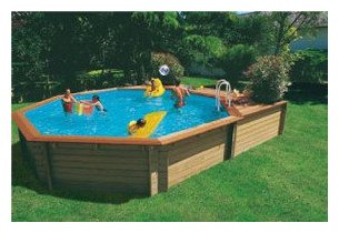 Woodfirst piscine en bois en kit piscine center net for Piscine hors sol wood grain