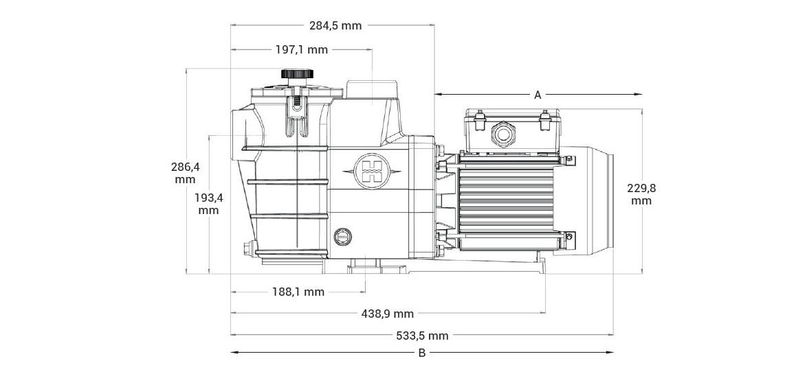 dimensions des nouvelles référence de pompes de filtration hayward max flo