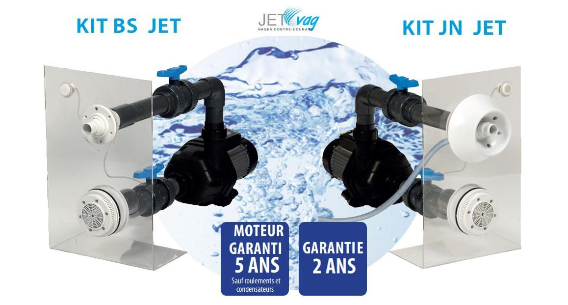 Kit complet de nage à contre courant Junior kit bs et kit jn jet acis
