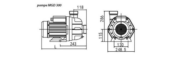 pompe MGD 300 - dimensions