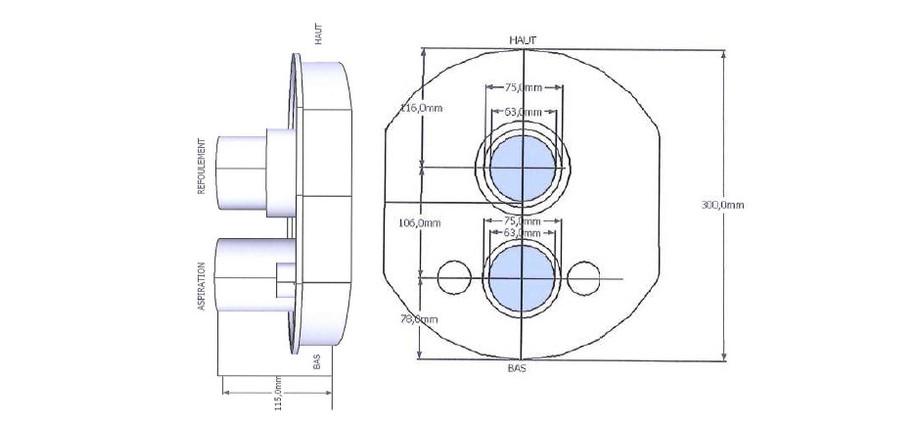 Kit complet de nage à contre-courant New Jetvag - dimensions
