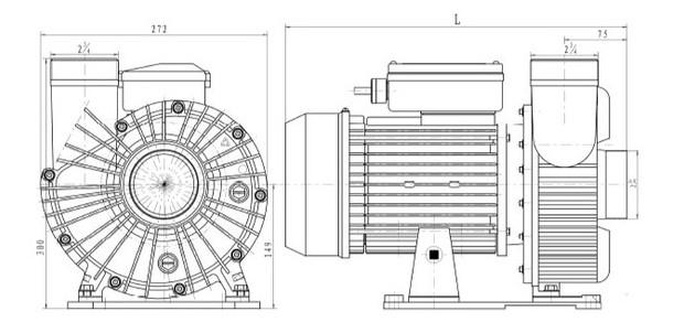 pompe NCC centrifuge dimensions