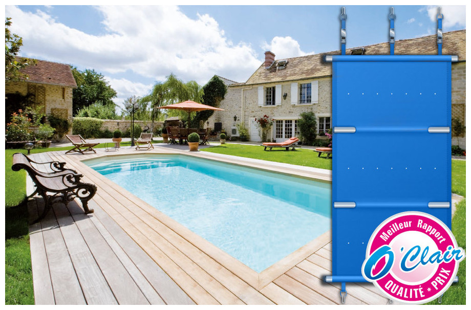 Bâche à barre Pool Plus barre rectangulaire pour piscine coque Alliance