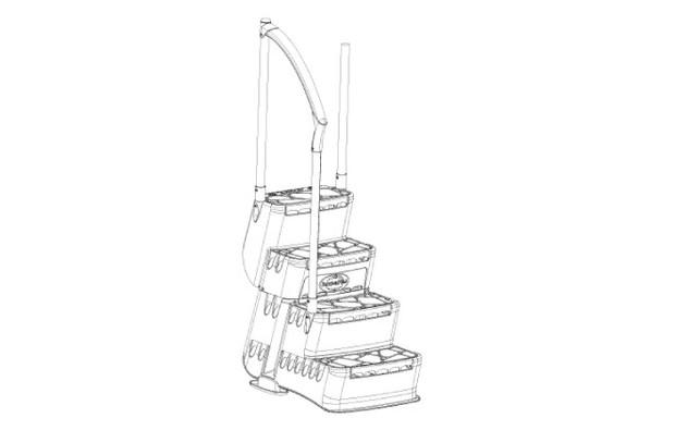 Escalier Aquarius pour piscines - schema