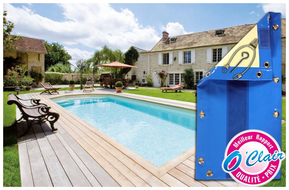 Bâche opaque Nara Safe pour piscine coque Alliance