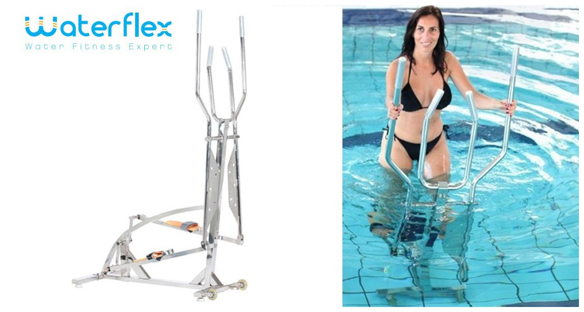 vélo piscine elliptique elly paar waterflex