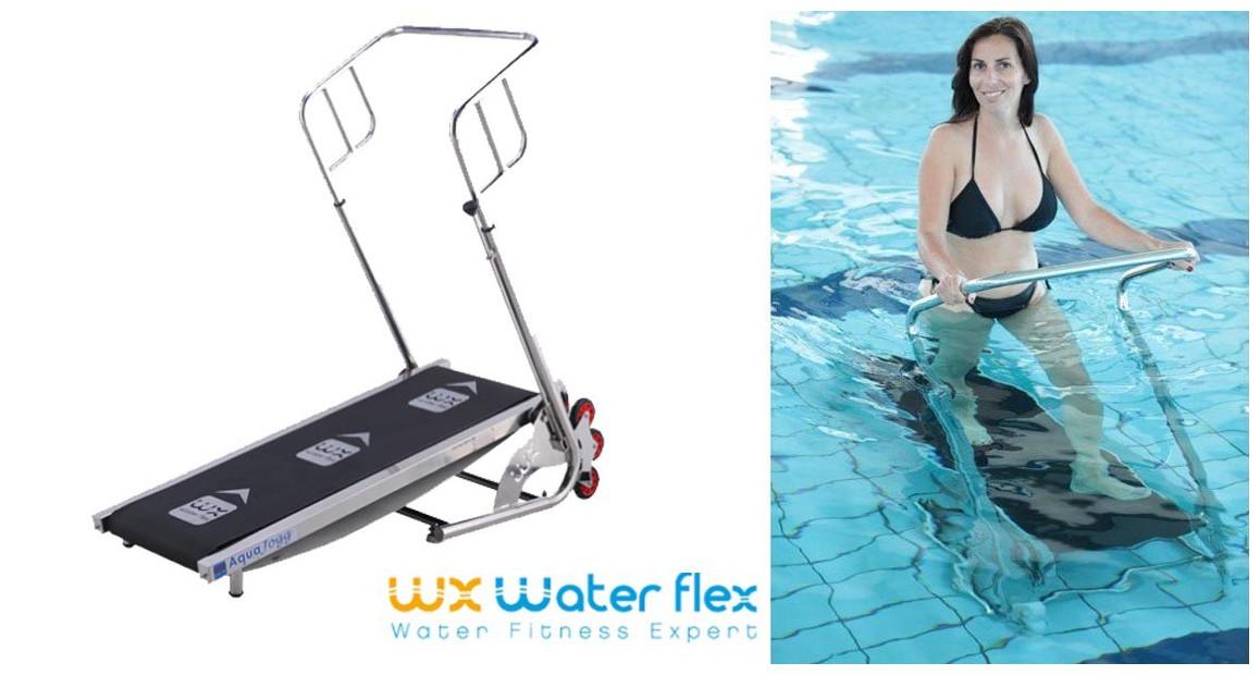 tapis de course aquatique waterflex aquajogg en situation