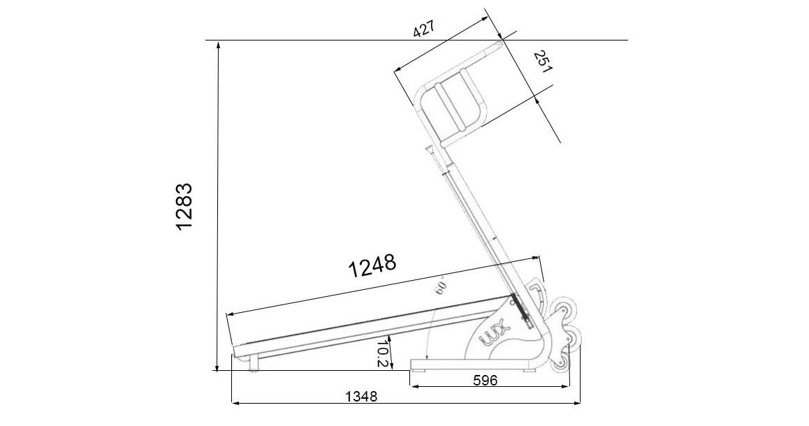 dimensions du tapis de course aquatique aquajogg