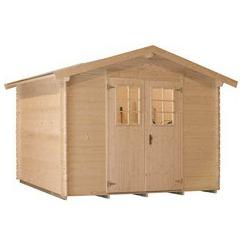 Abri de jardin en bois brut - Leman 141 - 4,68 m² - 19 mm