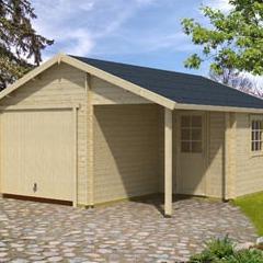 Garage en bois d'épicéa Nevis B