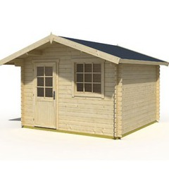Abri de jardin en bois brut Cyprus 1B - 5,5 m² - 28 mm