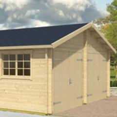 Garage en bois d'épicéa Falkland A