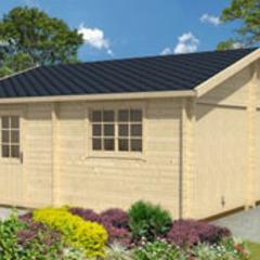 Garage en bois d'épicéa Falkland B