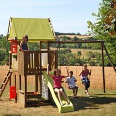 p 39 tit chatenay aire de jeux pour enfants en bois petit ch teau fort avec multiple agr s. Black Bedroom Furniture Sets. Home Design Ideas