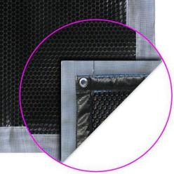 Bâche à bulles Noire Luxe Iverbul quatro + bavette-grille le m²