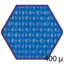 Bache été 400 microns pour piscine bois original hexa 412 x 412