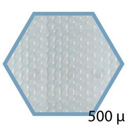 Bache été 500 microns pour piscine bois original hexa 412 x 412