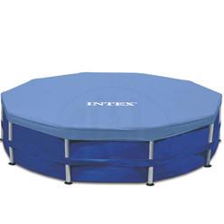 Intex cbche de protection pour piscine tubulaire ronde for Bache hiver piscine intex tubulaire rectangulaire