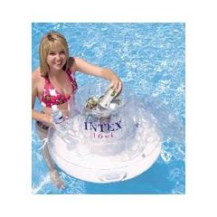 Bar intex gonflable pour piscine avec glaci re int gr e for Bar flottant pour piscine
