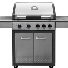 Barbecue au gaz Burbank - 4 brûleurs + 1 réchaud