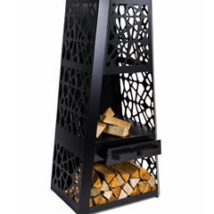 chemin e d 39 ext rieur bois foyer ouvert huron piscine center net. Black Bedroom Furniture Sets. Home Design Ideas