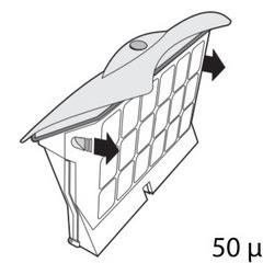 Cassette de filtration pour robot D2 / D8 top Access blanche 50 microns unitaire