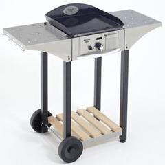 Desserte CHPS en inox/bois pour plancha Roller Grill 400
