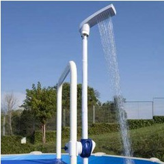 Douche économique à clips GRE pour échelle piscine hors sol