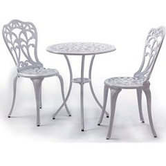 Salon repas Romance blanc