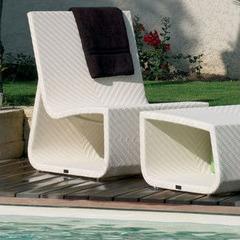 Fauteuil et pouf Summertime Chair blanc
