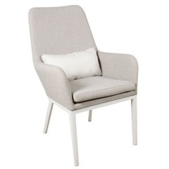 Fauteuil Indoor/Outdoor Adelaïde beige chiné