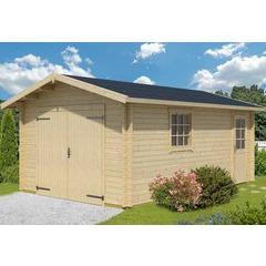 Garage en bois d'épicéa Antigua 44 A