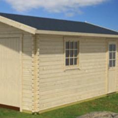 Garage en bois d'épicéa Antigua 44 B