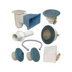 Kit N°4 pièces à sceller bleues pour piscine liner