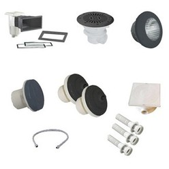 Kit N°1 pièces à sceller gris anthracite pour piscine liner