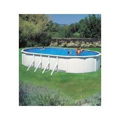 Kit piscine hors ovale avec renforts apparents 810 x 470 x 120 cm