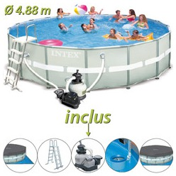 Piscine tubulaire ultra frame intex x m for Piscine hors sol 4 57x1 22 m