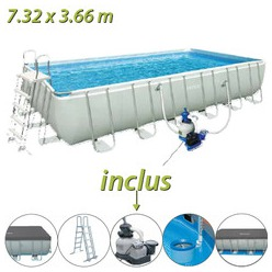 Piscine autoport e 7m32 for Piscine tubulaire ronde bestway 3 66 x 1 22m
