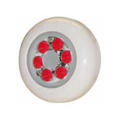 Lampe piscine étanche avec 6 Super LED Rouge de 1W
