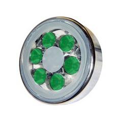 Lampe piscine inox avec 6 Super LED de 1W Vert