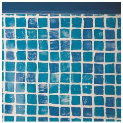 Liner mosaïque piscine hors sol ronde Ø 460 x 132 cm 50/100