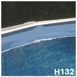 Liner bleu uni piscine hors sol Ø 550 x 132 cm 40/100